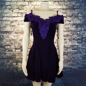 Vintage Zum Zum Deep Purple Velvet Dress Sz.7/8